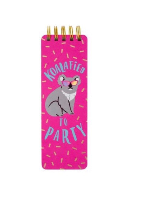 Koalafied To Party Memo Pad