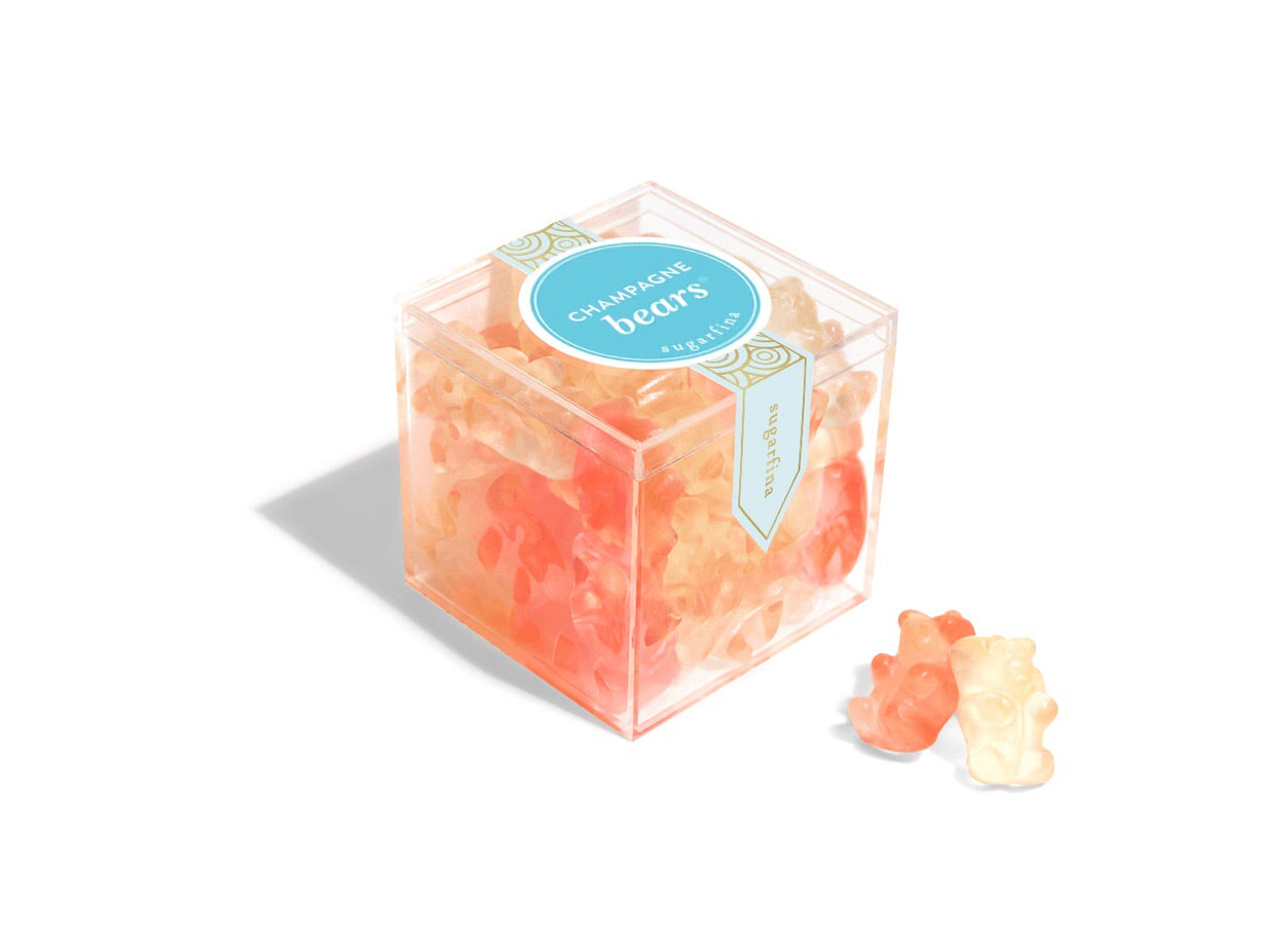 celebrate with these champagne gummy bears