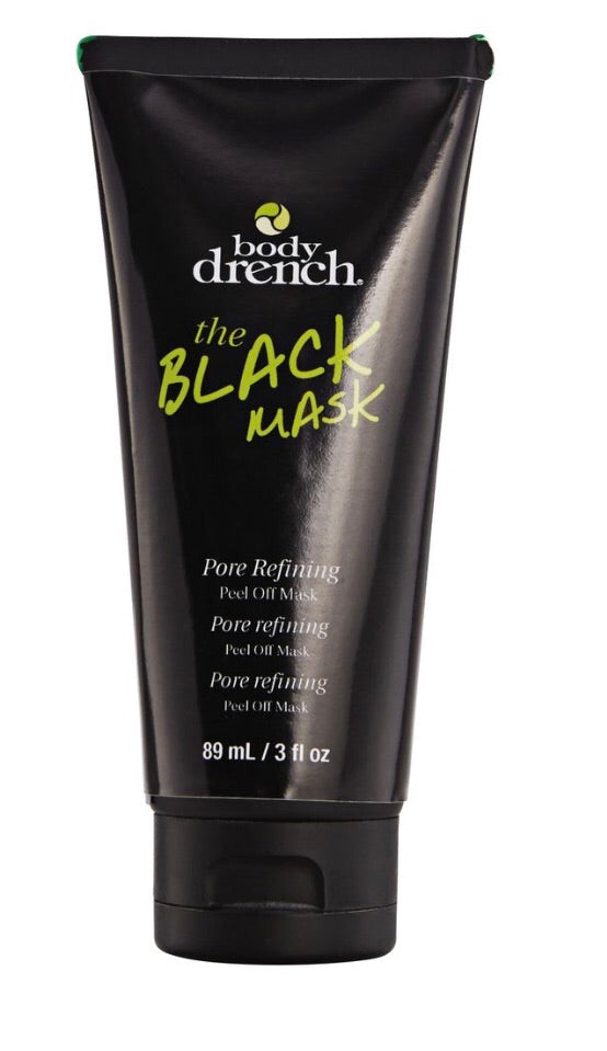 body drench black charcoal face mask