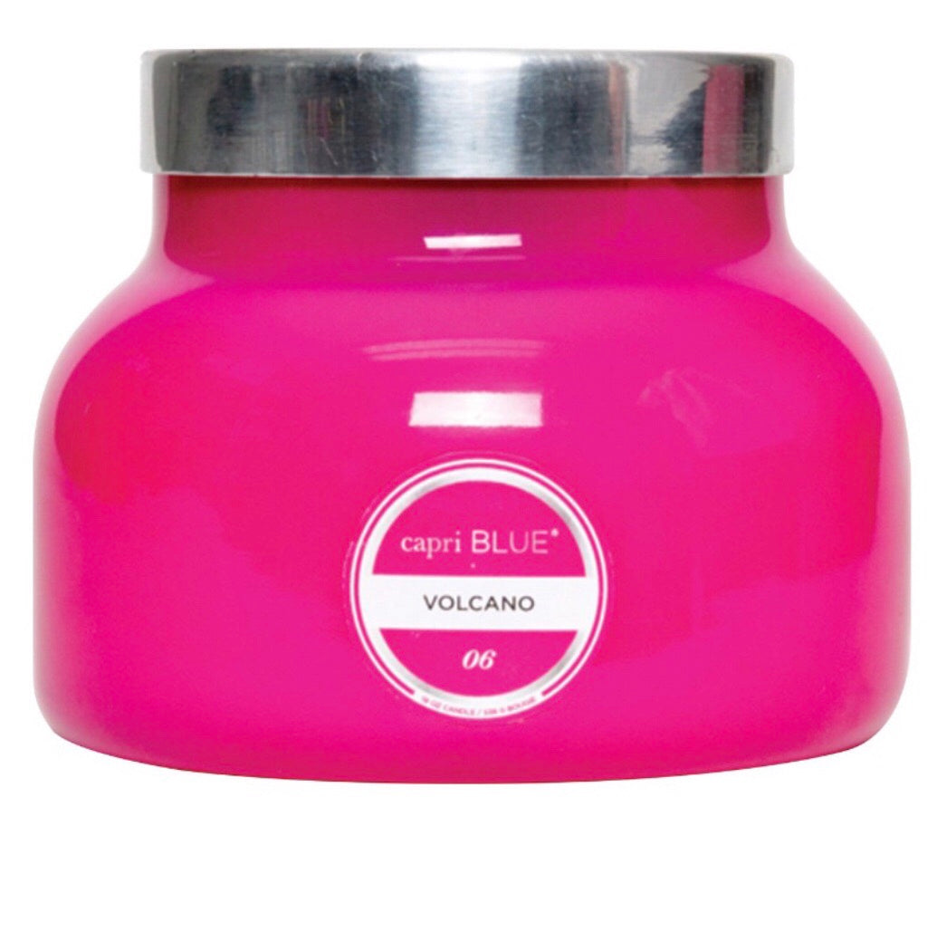 pink petite volcano candle