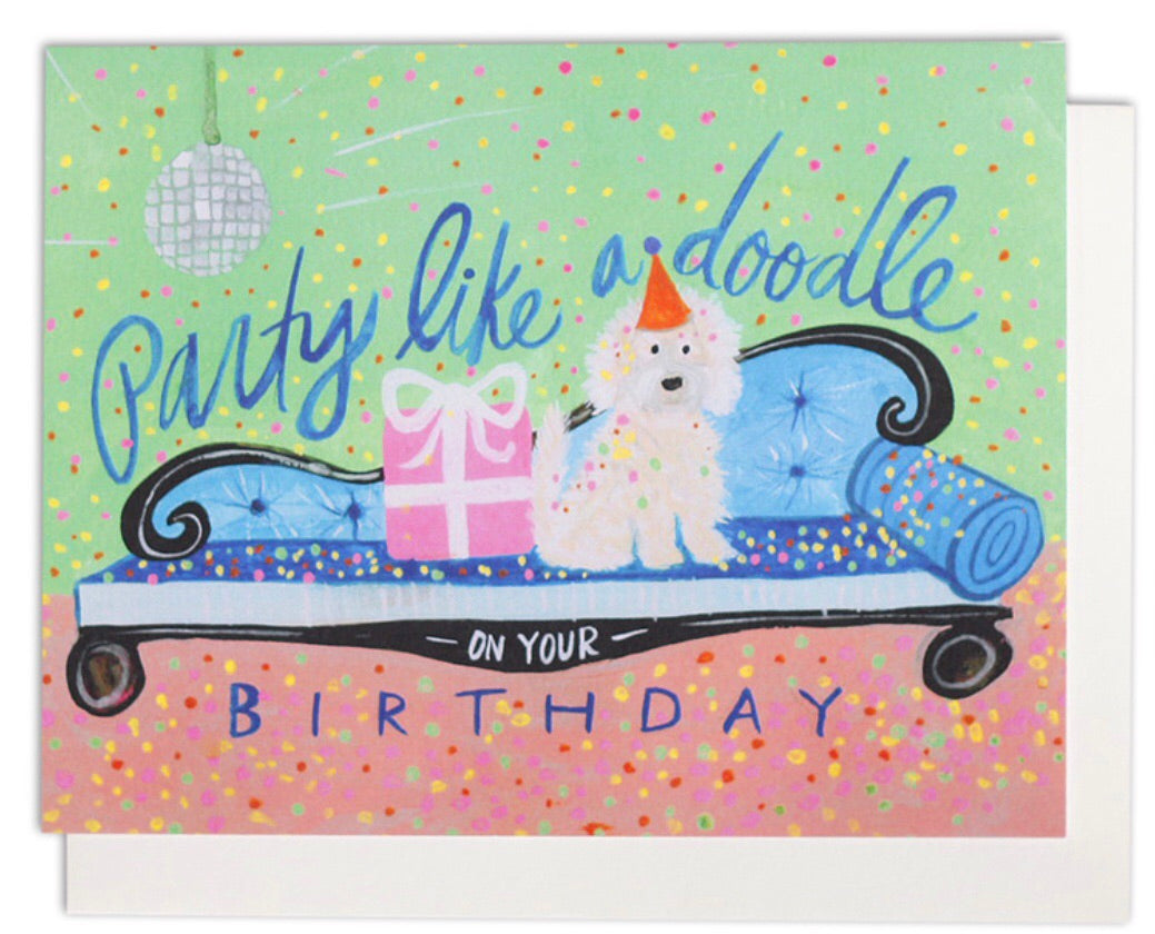 party like a doodle birthday card
