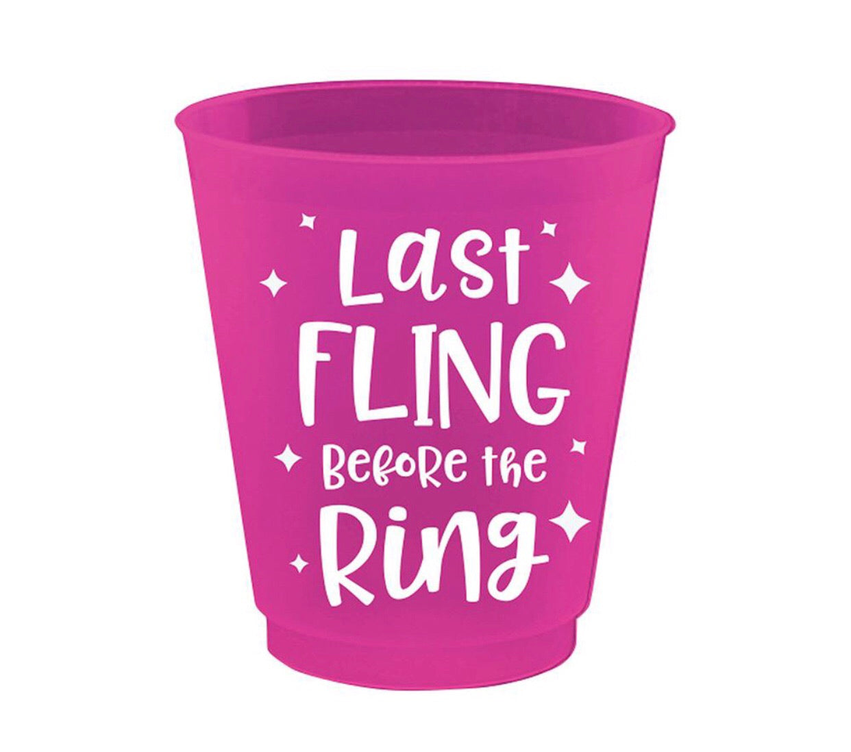 last fling before the ring shot glasses