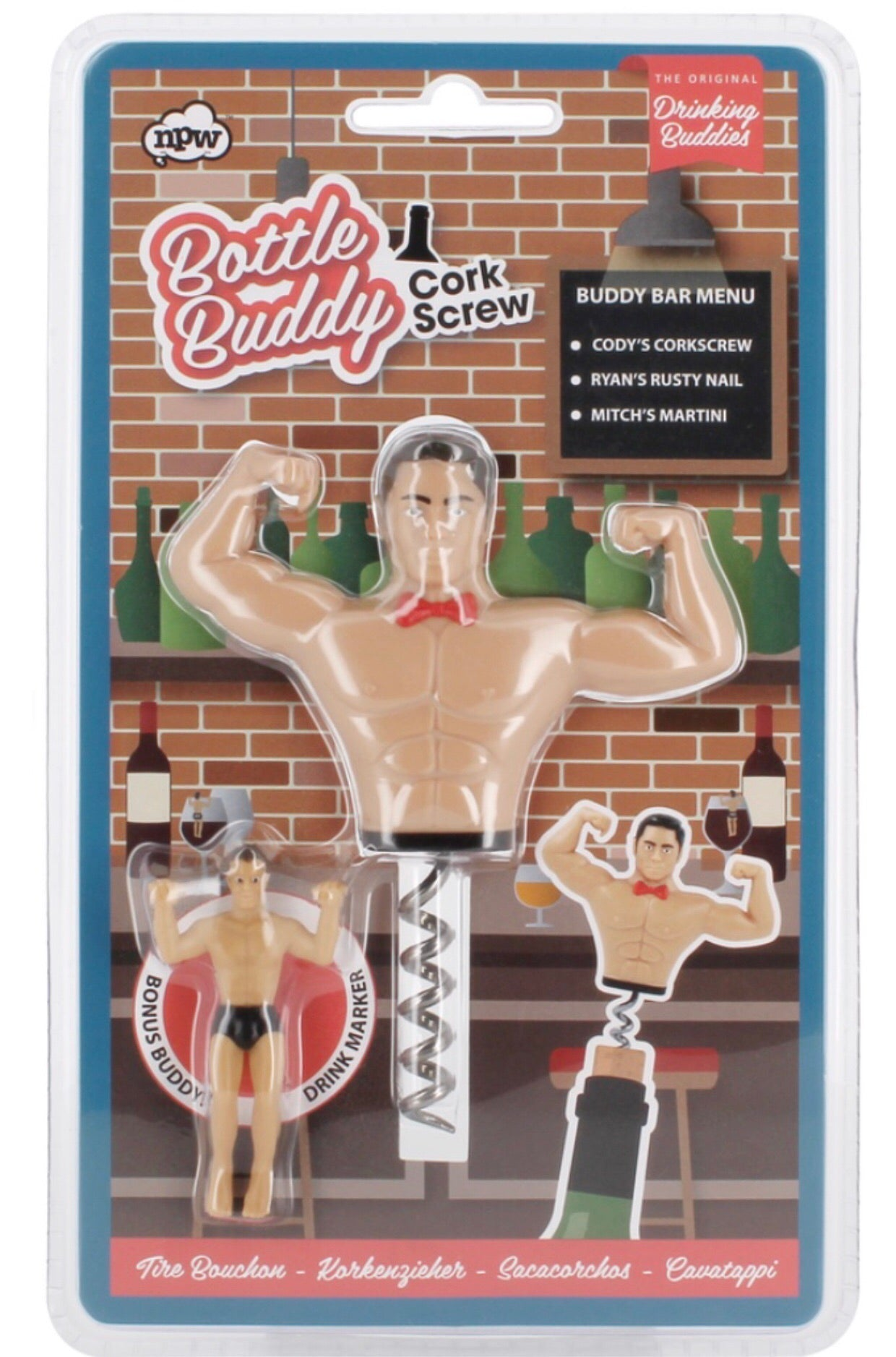 bottle buddy wine cork with an extra drinking buddy