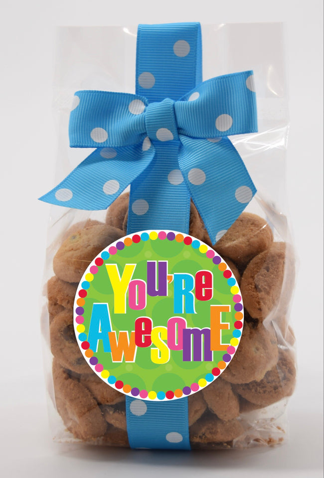 you're awesome confetti brownie bite nams cookies
