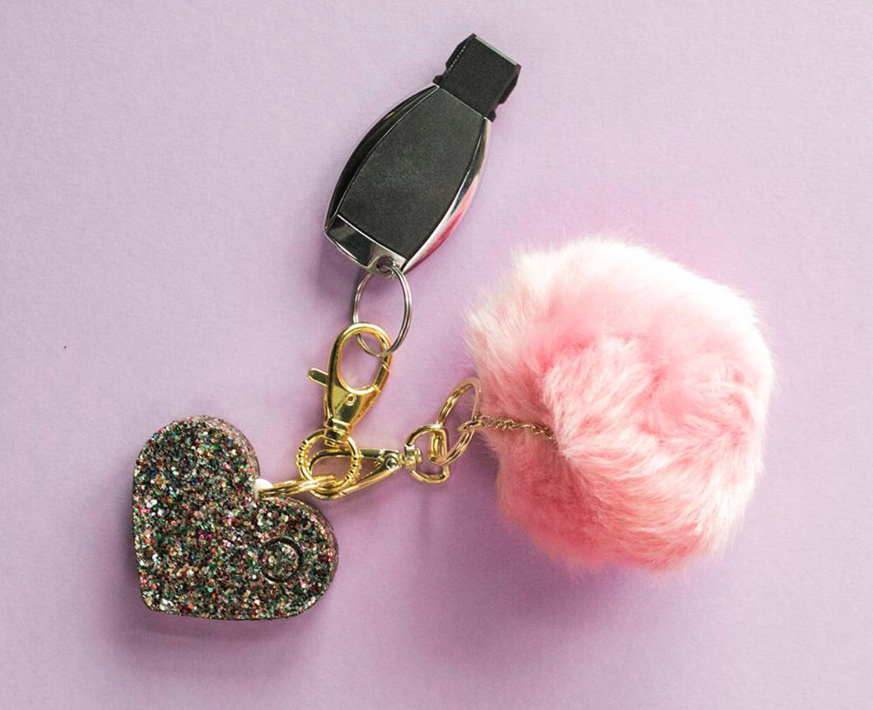 confetti heart safety alarm from bling sting