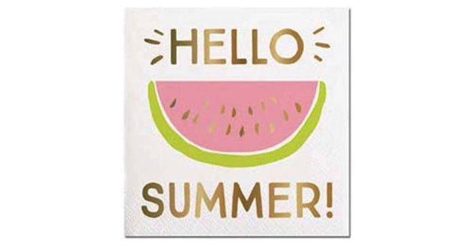 Hello summer! beverage napkins