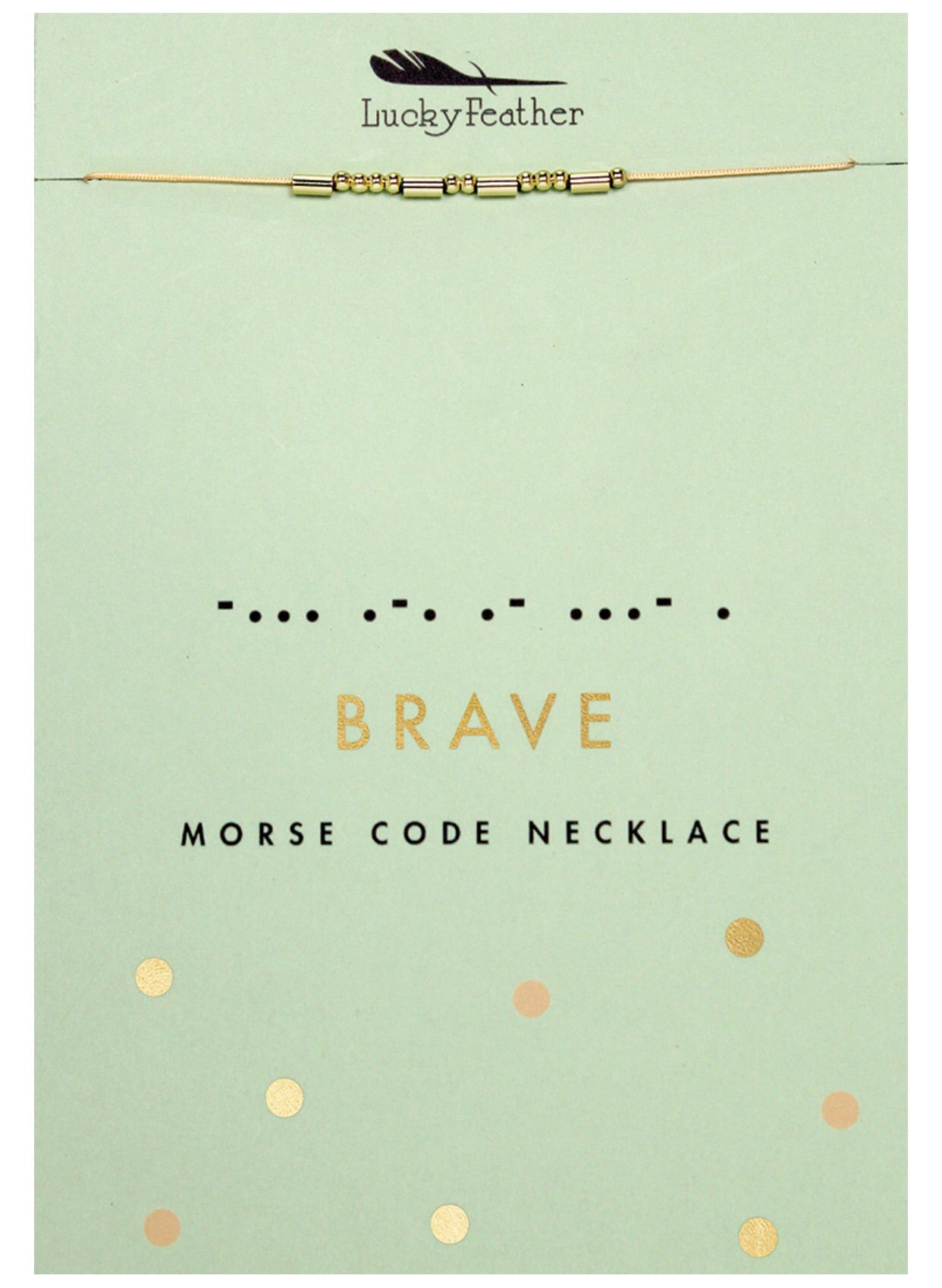 brave gold morse code necklace