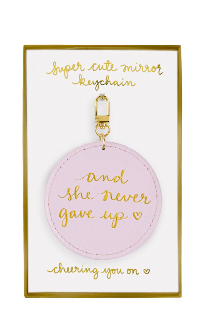 Pink, Seeing is Believing Mirror Keychain