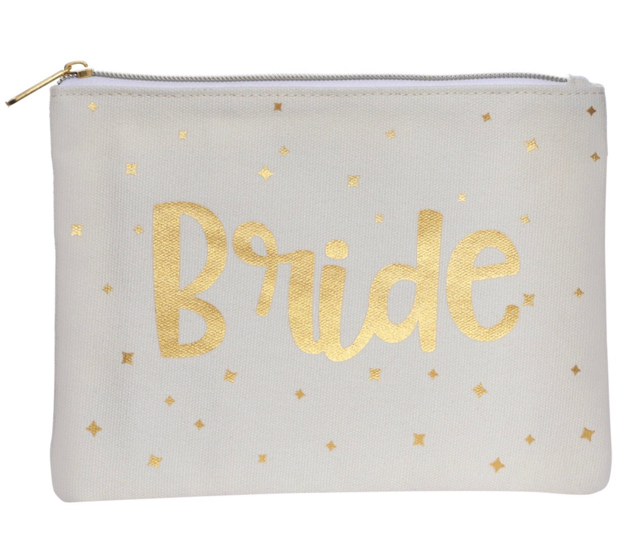 white bride cosmetics bag perfect for the big wedding day