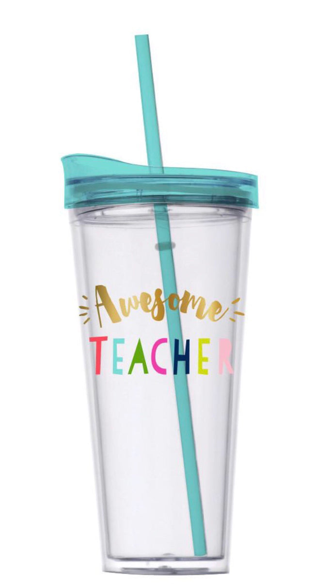 """Awesome Teacher"" Hot Cold Tumbler"