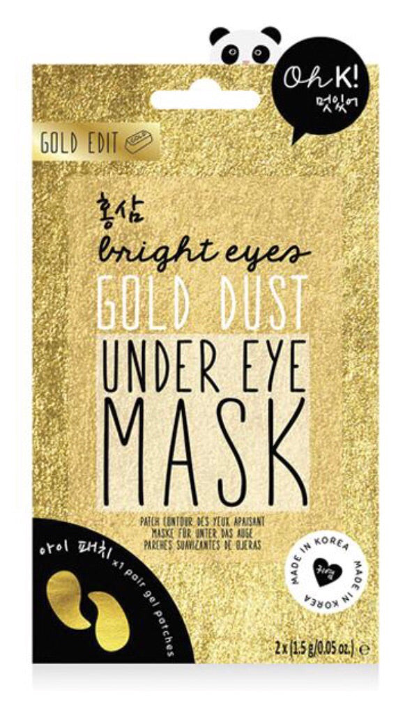 gold dust under eye mask from oh K!