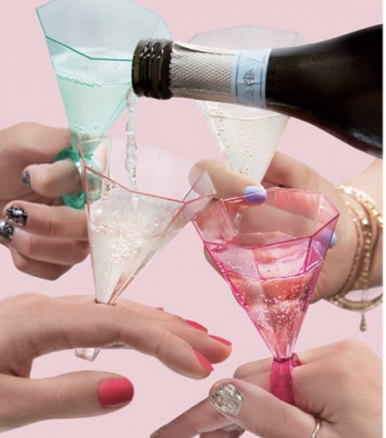 ring shot glasses perfect for a bachelorette party