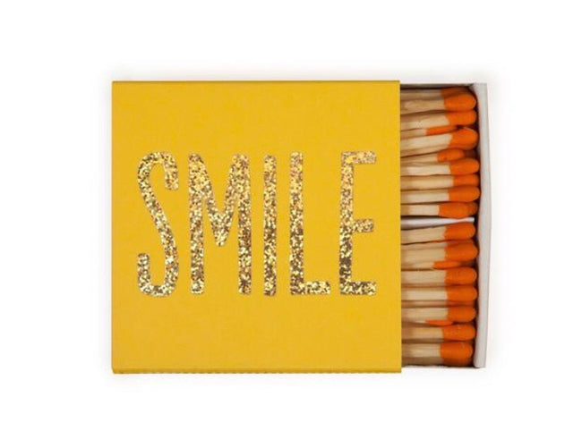"""Smile"" yellow matchbox matches"