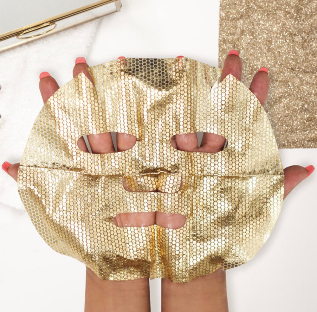 gold foil sheet mask!