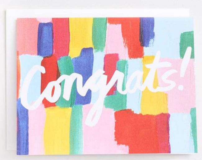 congrats painted greeting card