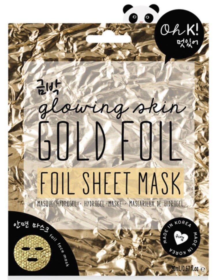 gold foil sheet mask by oh k!