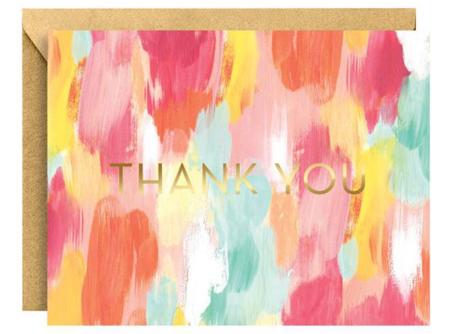 brush stroke thank you card