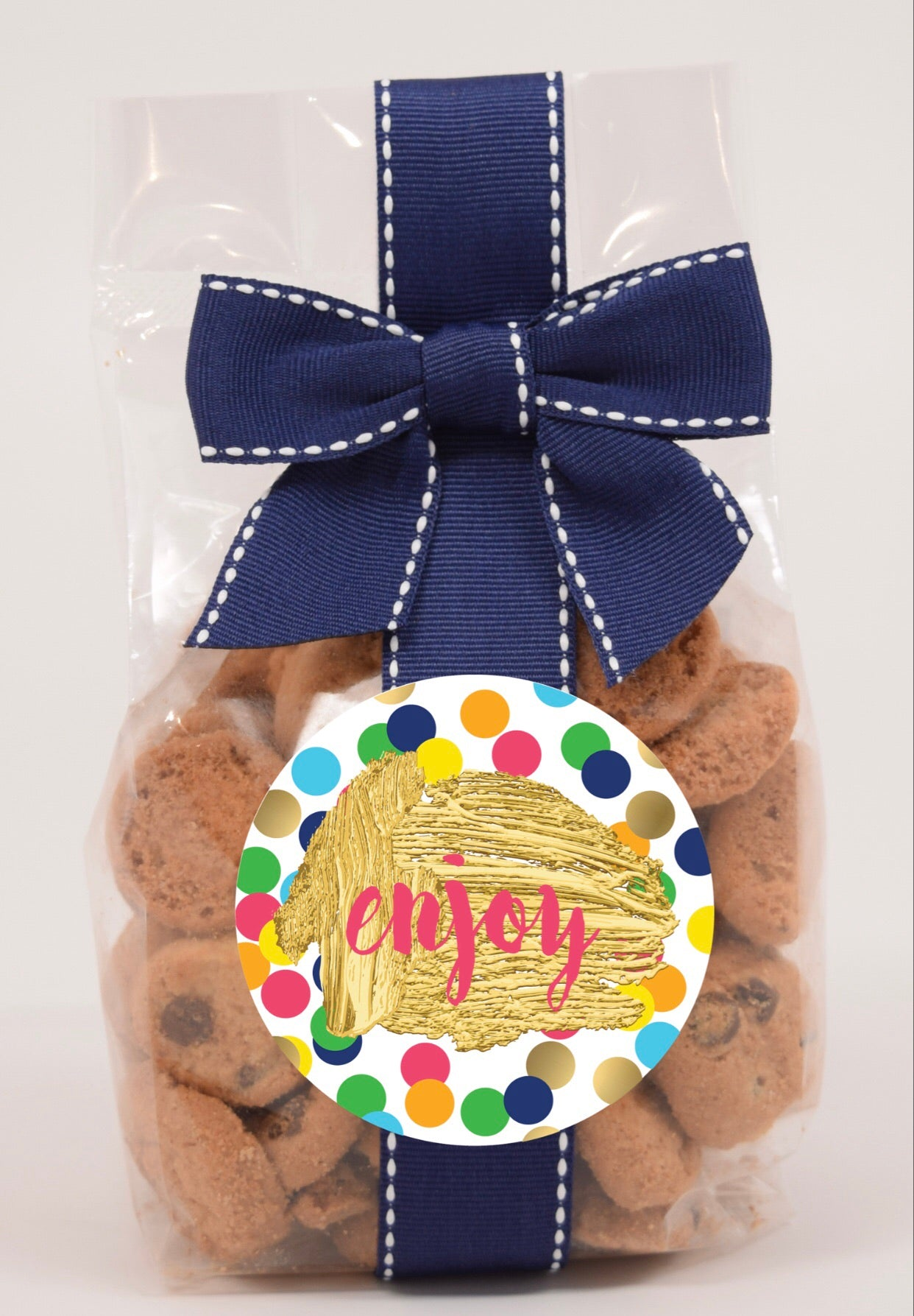 """enjoy"" nams bits chocolate chip cookies"