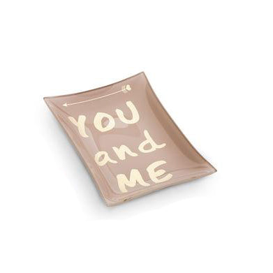 you and me rectangular pink trinket tray. perfect for wedding and anniversary gifts