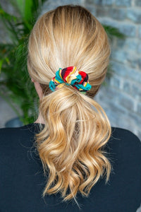 Green Serape Scrunchie