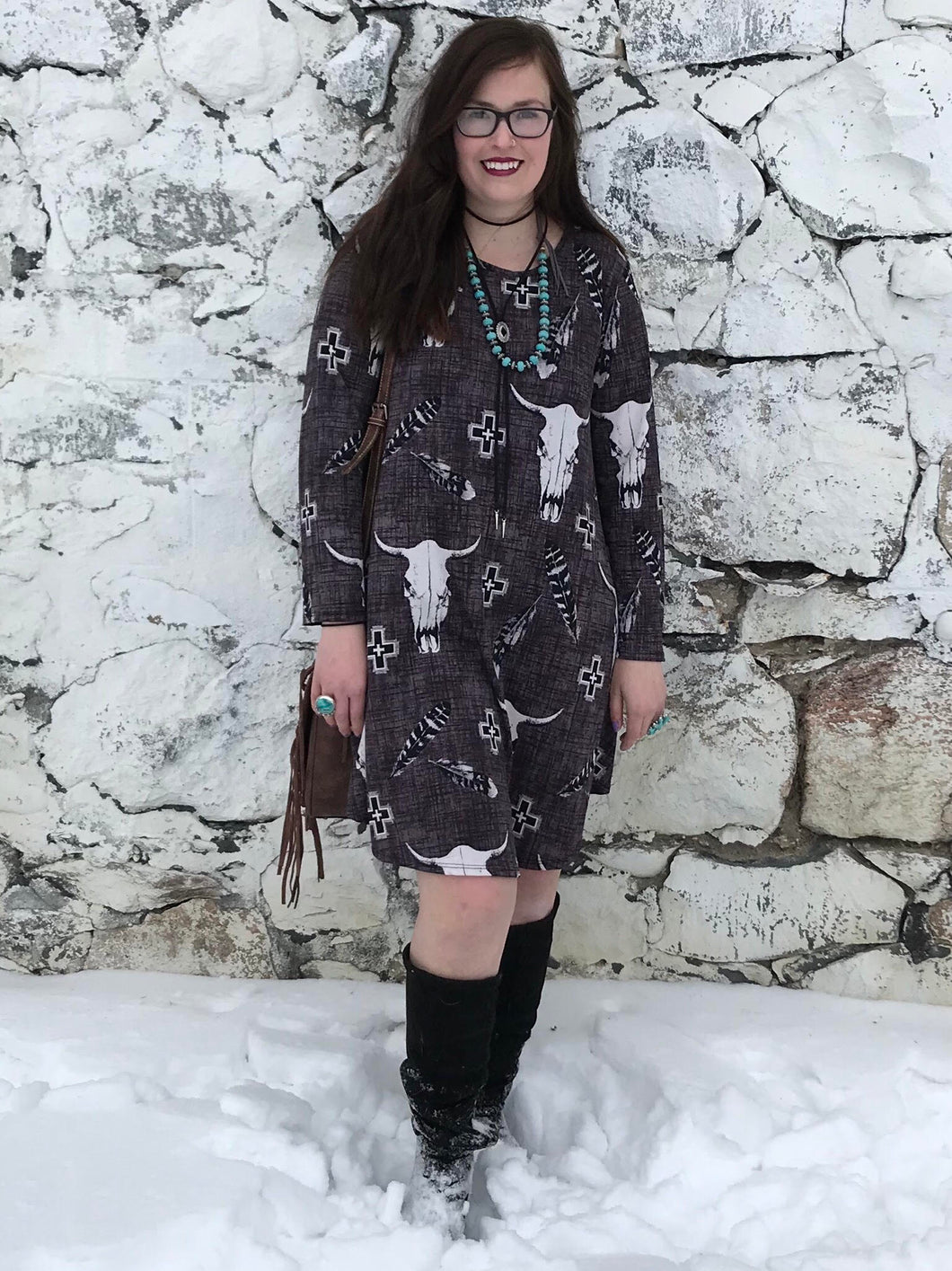 Custom Print Tunic Dress