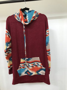 Burgundy Aztec Sweater