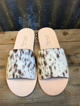 Chocolate Cowhide Slides- Size 7