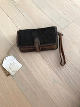 STS Brown Cowhide Cross Body Wallet
