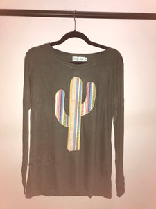Serape Cactus Long Sleeve