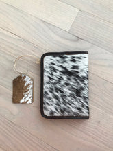 STS Black & White Cowhide Magnetic Wallet