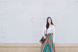 Long Skirt- Teal Serape