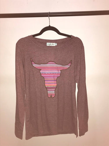 Serape Skull Long Sleeve