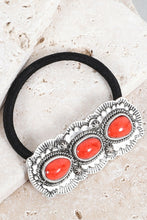 Coral Stone Hair Tie
