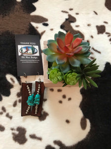 Turquoise Chunk Earrings