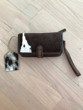 STS Brown & White Cowhide Cross Body Wallet