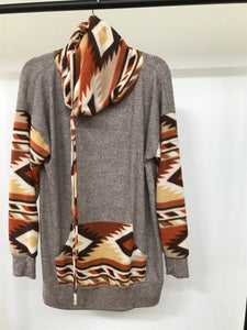 Grey Aztec Sweater