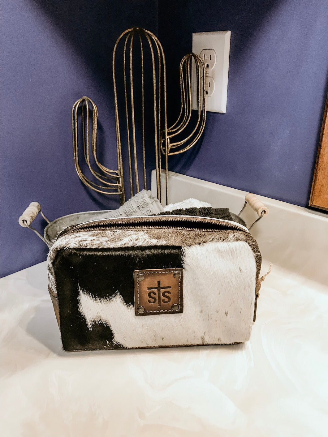 Cowhide Bebe Cosmetic Bag