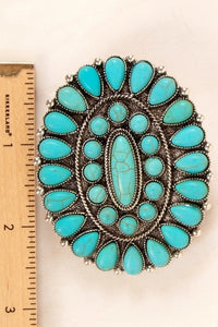 Turquoise Stone Clip