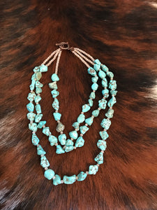 Country Turquoise  Necklace