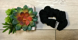 Jet Black Scrunchie