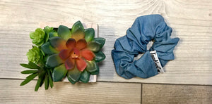 Chambray Scrunchie