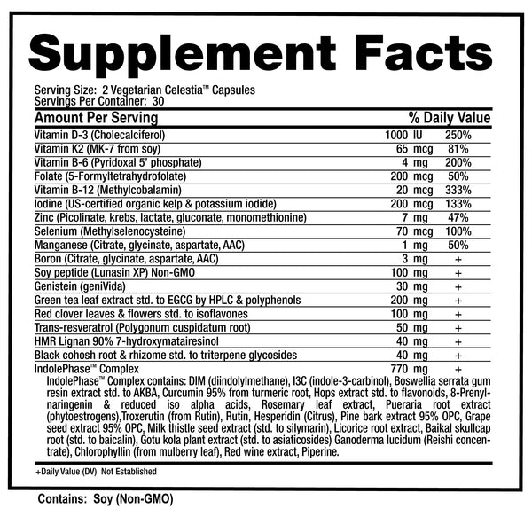 Celestia Supplement Facts