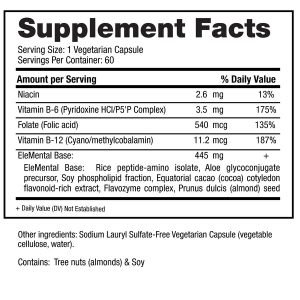 EleMental Supplement Facts