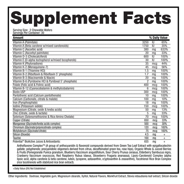 Potential - Patented for Learning Supplement Facts