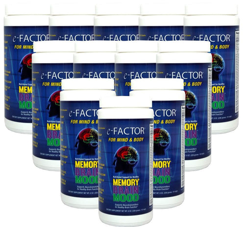 e-Factor (Case Discount-Buy 11 Get 1 Free) Brain Supplement for Cognitive Function, Memory & Mood, 14 Servings