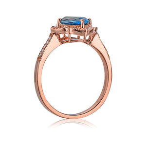 Vintage Milgrain 14k Rose Gold Ring