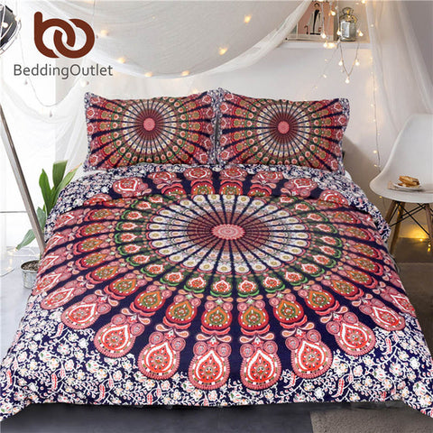 Image of Sleeptra Day/Night Mandala Duvet Set - 3 Piece