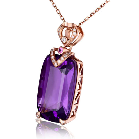 Image of Iris Amethyst Pendant 18K Rose Gold