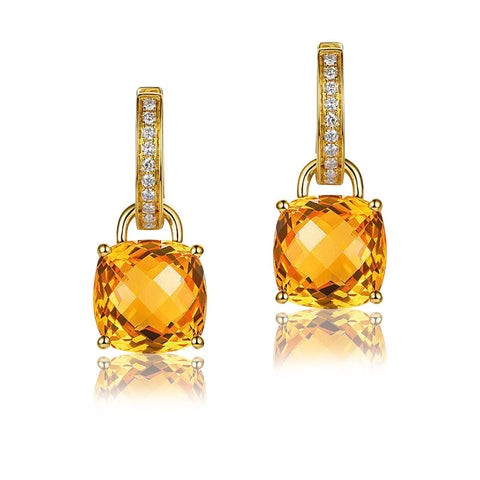 Hecate Citrine 14k Gold Earrings
