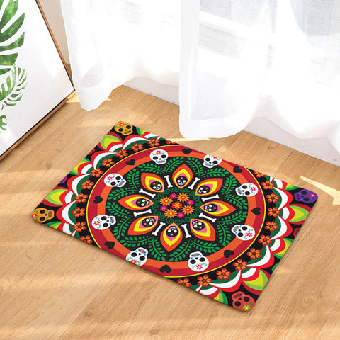 Image of Day of the Dead Mandala Doormat
